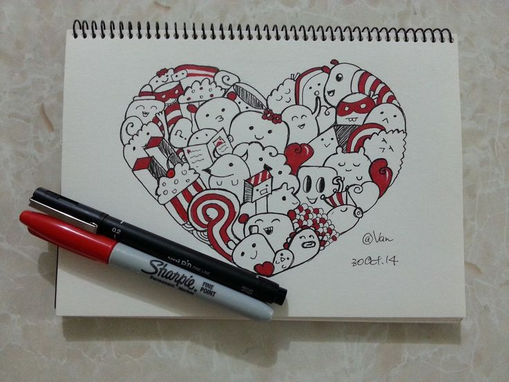 This is another doodle I learn from Pic Candle. It is very cute.