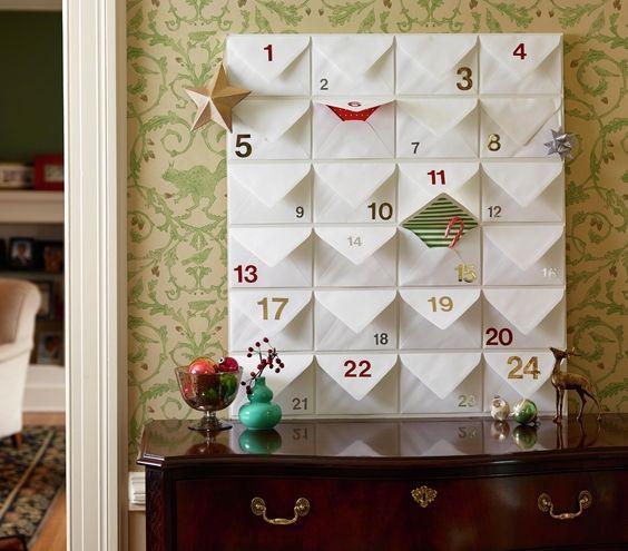 Envelope Advent Calendar | Real Simple