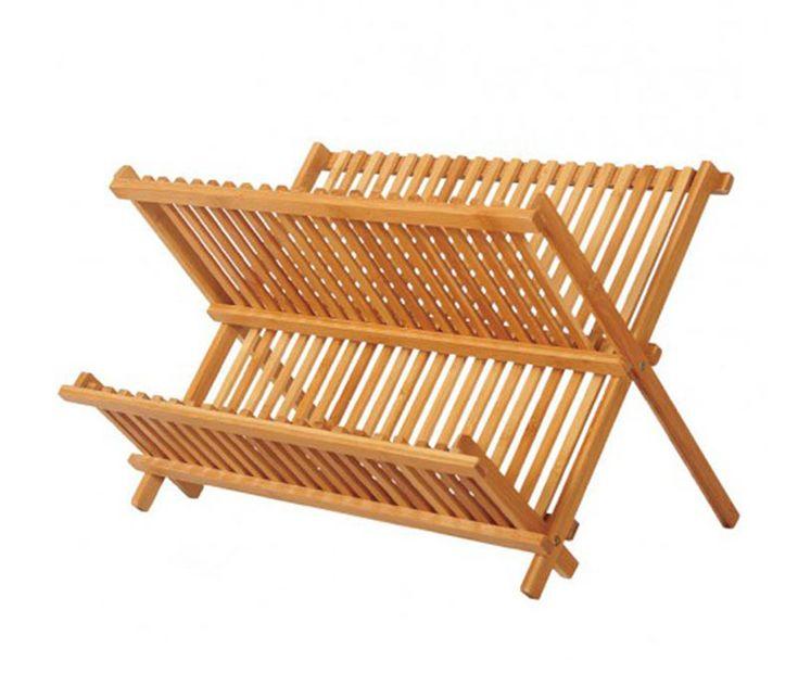 Secaplatos plegable bamboo