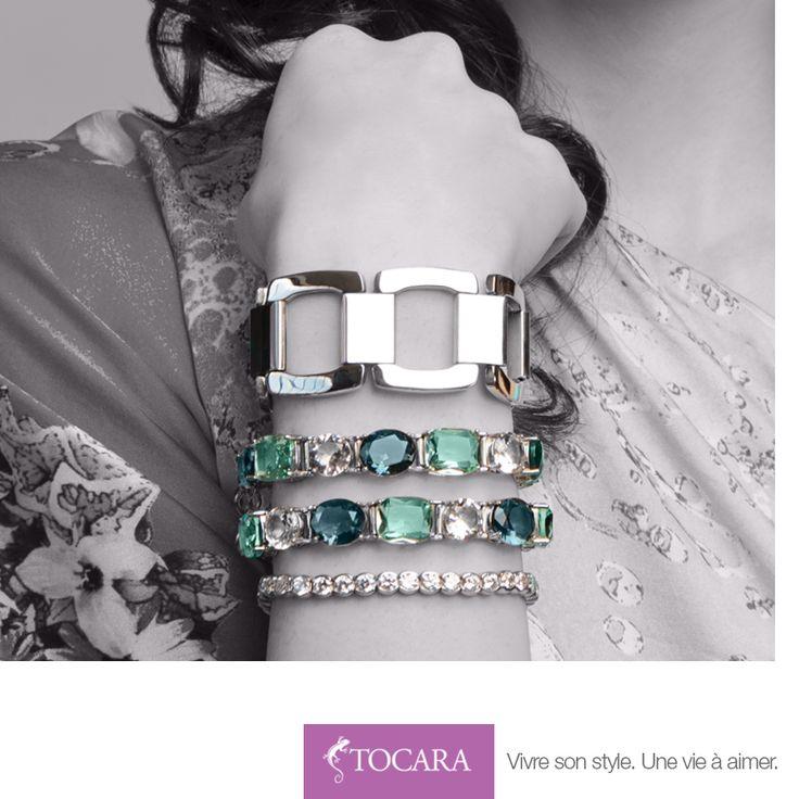 C'est la fin de semaine, c'est le temps de briller ! De haut en bas: Bracelet Dolly, Bracelet Coralee, Bracelet Christiane.