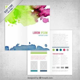 Renkli Suluboya Afiş Şablon