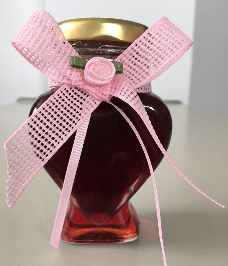 Φράουλα γλυκό του κουταλιού προσφερόμενο ως μπομπονιέρα στην βάπτιση της εγγονής μου (KT)