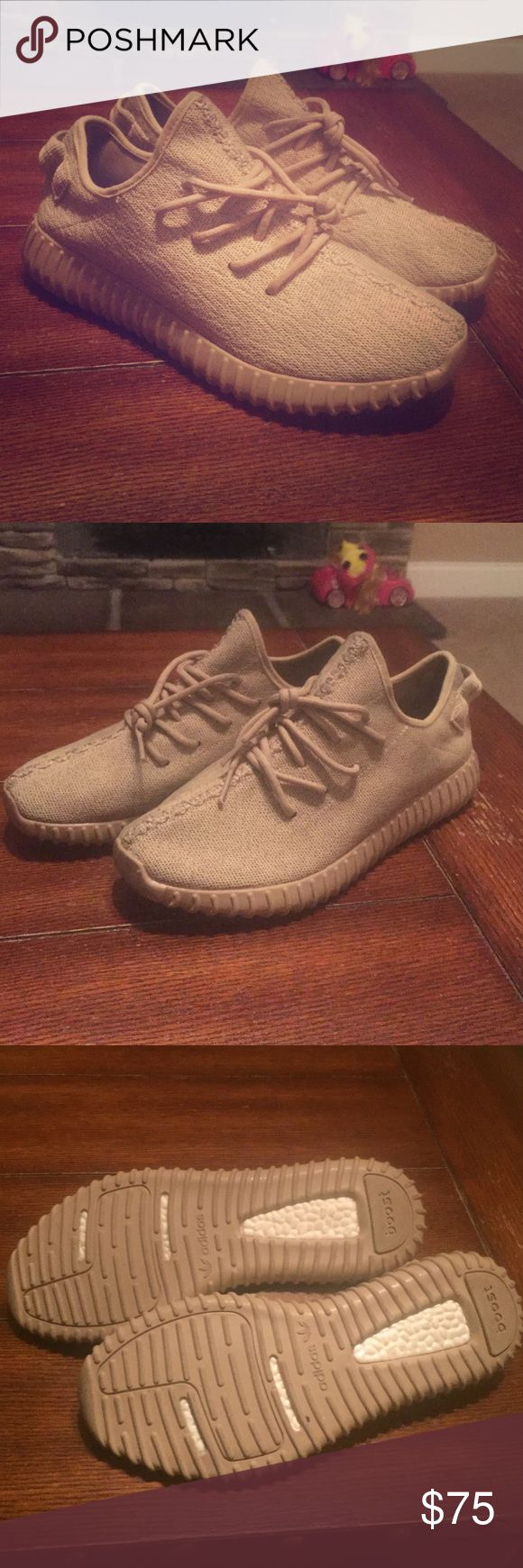 yeezy oxford tan fake I bought these the other day thinking they were going to fit me but they don't!! So buy them before it's gone! Good condition!! Size 11 Adidas Shoes Oxfords & Derbys