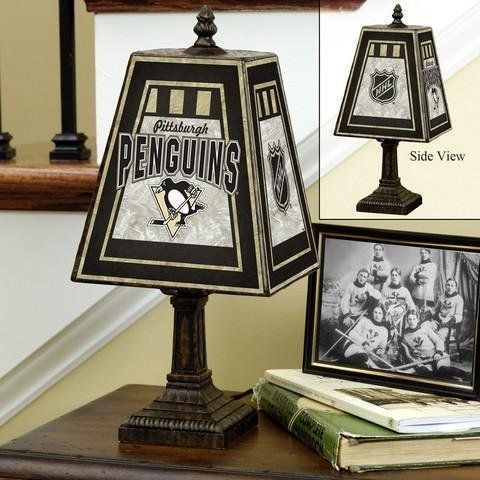 NHL Art Glass Table Lamp NHL Team  Pittsburgh Penguins by The Memory  Company. 17 Best images about Pittsburgh Penguins on Pinterest   Wine