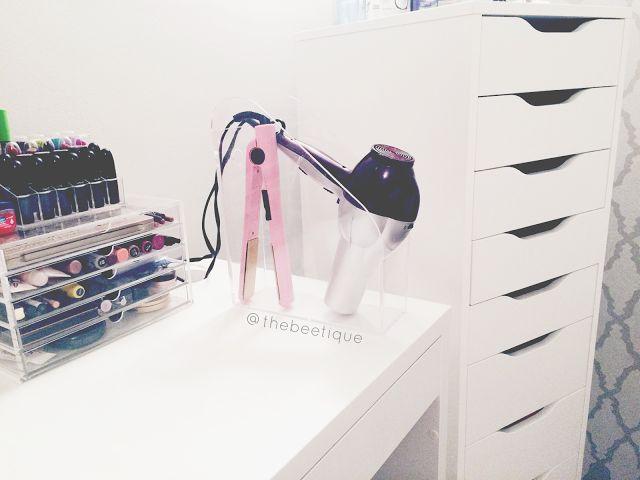 Hair Style Organizer: Hair Styling Tools Organization // Acrylic Magazine Holder
