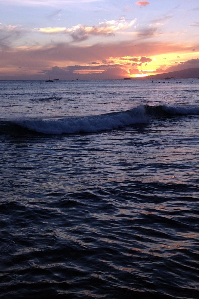 Oahu sunset hawaii