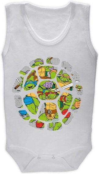Ninja Kaplumbağalar - Kabuk Deseni Kendin Tasarla - Bebek Zıbın
