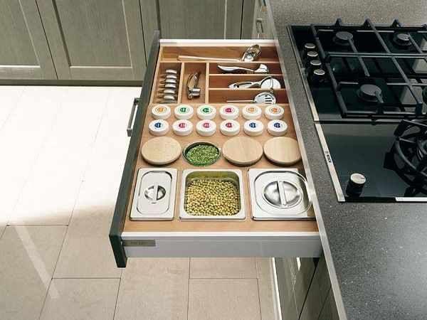 Kitchen Spices At Practical Organization Cabinet Comfortable Inspiration Interior Design