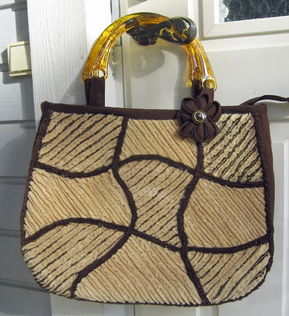 Quilted chenille bag pattern