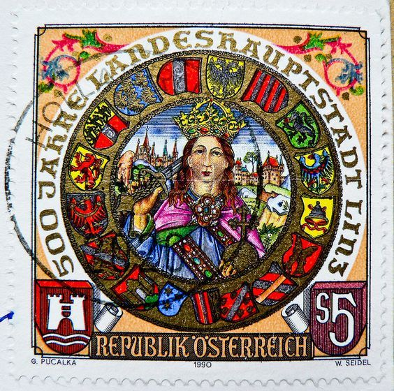 Austria S 5.00 Friedrich III. (Frederick III. 'The Peaceful' 1415-1493, Holy Roman Emperor & 1st Emperor of House of Habsburg; 500th anniversary of Capitol City Linz)