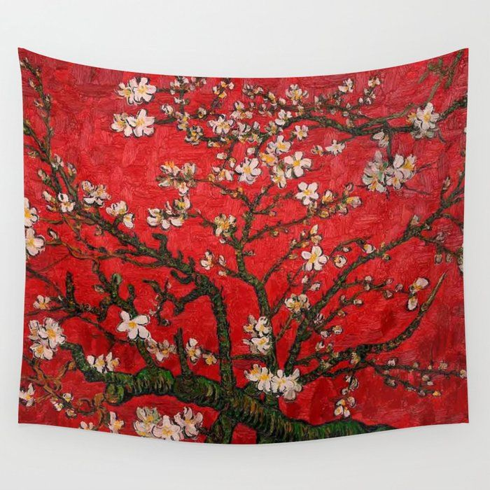 "Fabric Tapestry Home Decor Wall TapestryAlmond Blossoms/"" By Vincent Van Gogh"