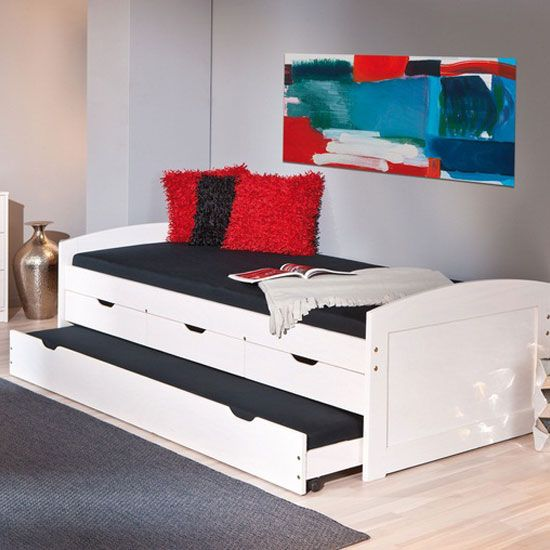 Best Ulli Day Bed With 3 Drawers And Pull Out Under Bed In 400 x 300
