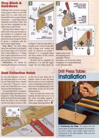 shop notes 94 drill press table 5 5 tool jigs and fixtures
