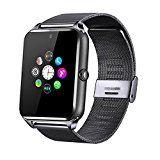 Fantime Bluetooth Smart Watch Unterstützung SIM / Micro SD Card Wrist Phone Kompatibel mit Android und Teil der Funktionen für iOS (HD Touch Screen / Handsfree / Telefonieren / Kamera / Sedentary)