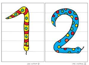 Des puzzles pour mémoriser la forme des chiffres de 1 à 9.