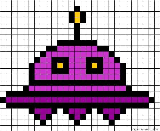 UFO perler bead pattern fuse beads