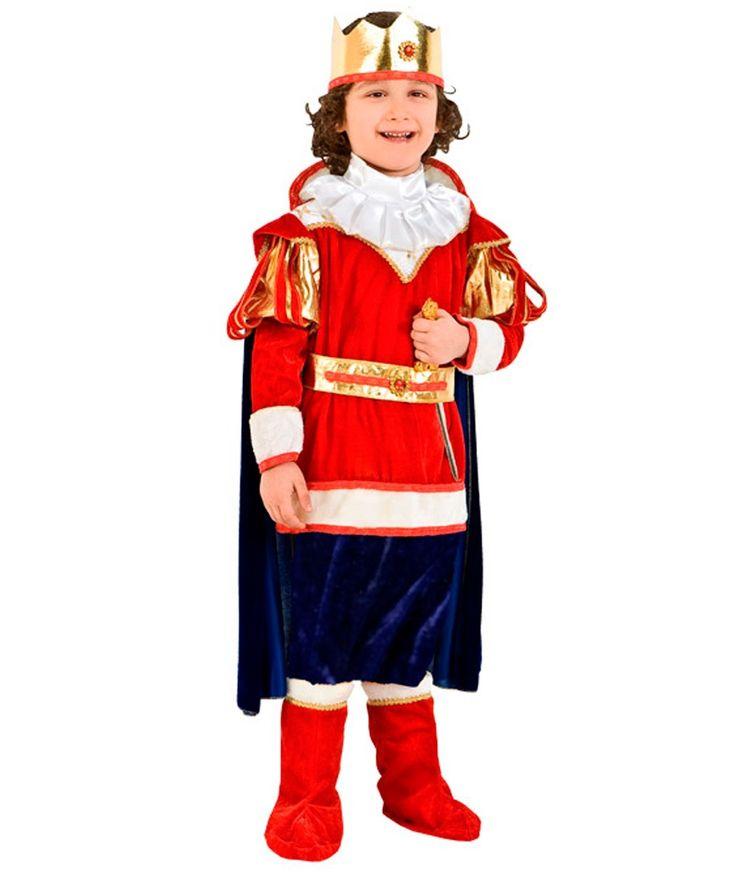 Костюм+короля+Артура:+накидка,+накладки+на+обувь,+штаны,+манишка+(Италия)
