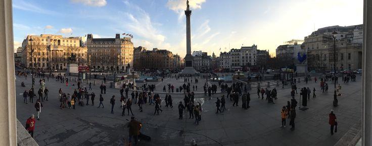 Panorama from National Gallery across Trafalgar Square