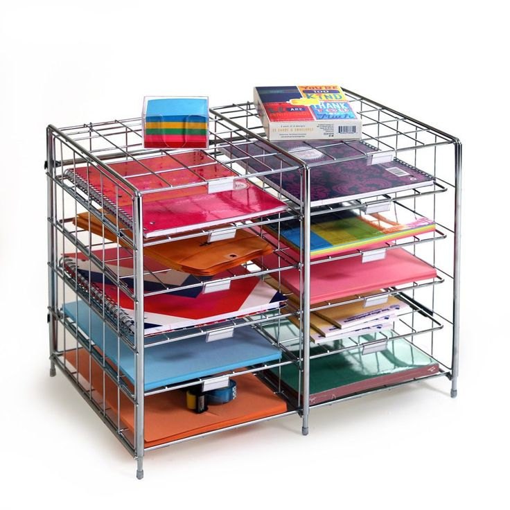 The Seville Classics 10-slot Steel Wire Desk Organizer is a functional document sorter that is ideal for homes, classrooms, mail rooms and offices.