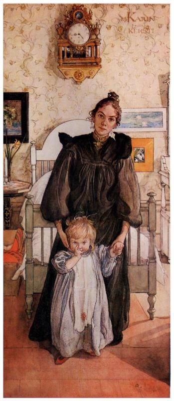 Karin and Kersti, - 1898 -  Carl Larsson - Place of Creation: Sweden ......#GT