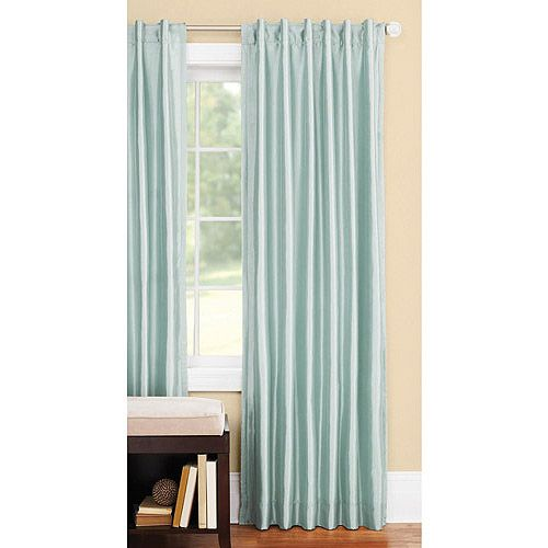 ... Better Homes and Gardens Thermal Faux-Silk Back-Tab Window Curtain
