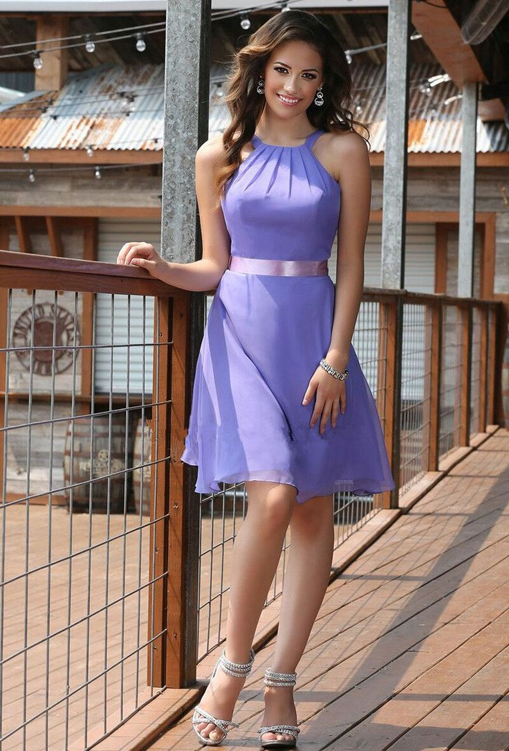 85 best bridesmaid images on pinterest bridesmaids bridal click to buy latest pretty short purple halter bridesmaid dresses with belt ombrellifo Choice Image