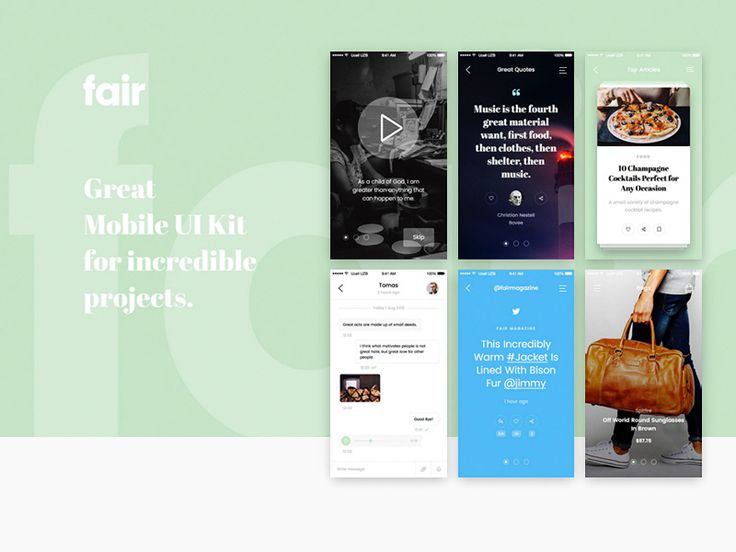 Fair Mobile UI Kit Sample #ios #mobile #ui #kit