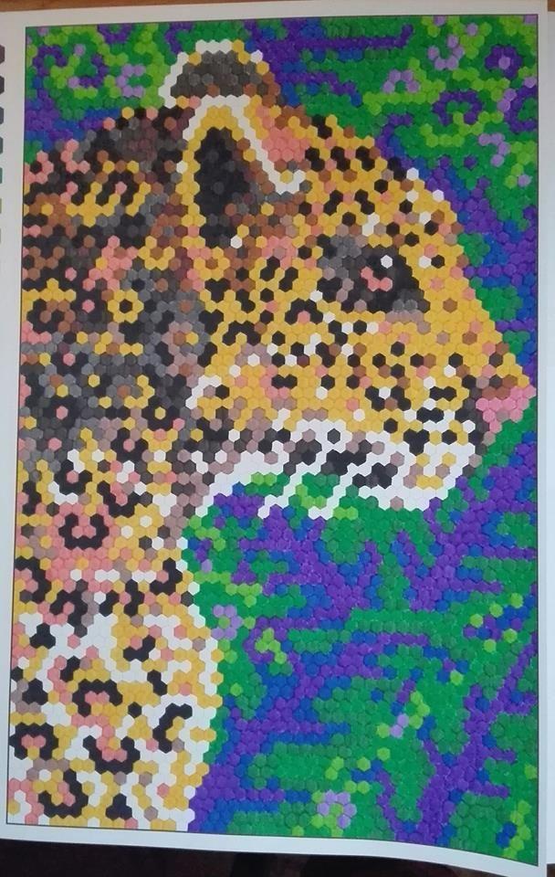 Finished: 14. 12. 2017; Source: Pixel Art; Medium: KIN felt pens