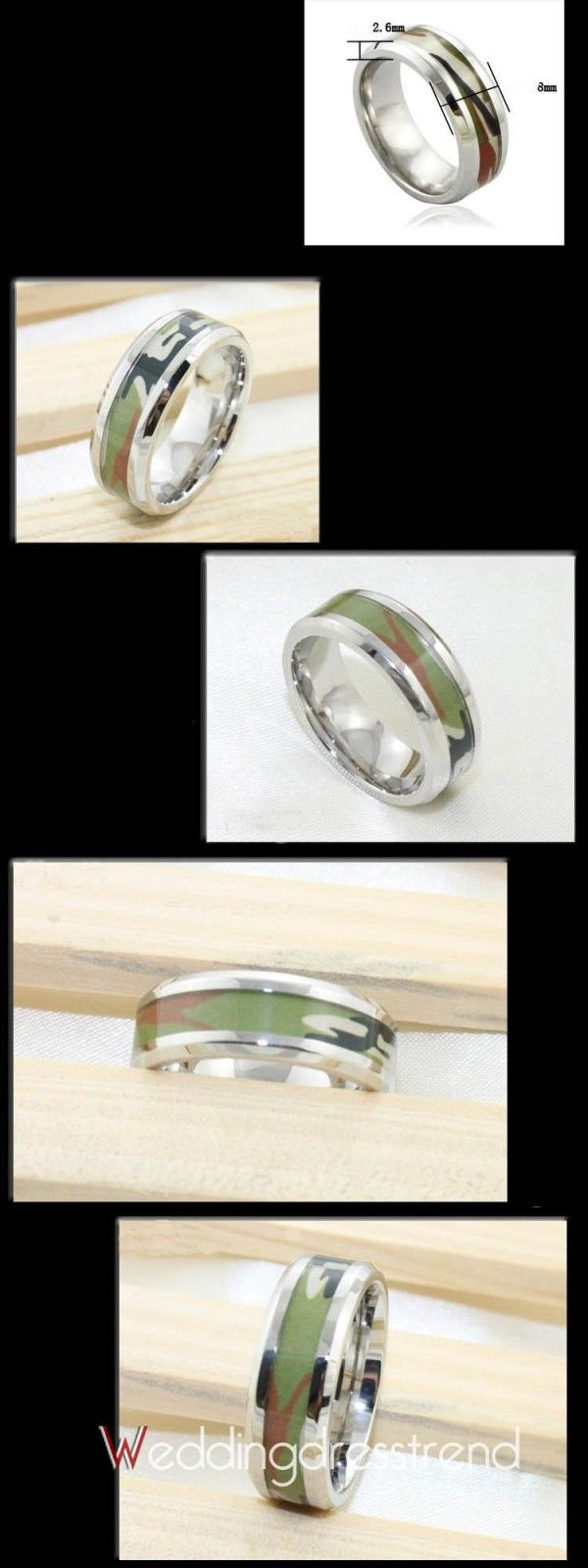 Special Alloy/Silvering /Overgild Camouflage Engagement Rings for Sale