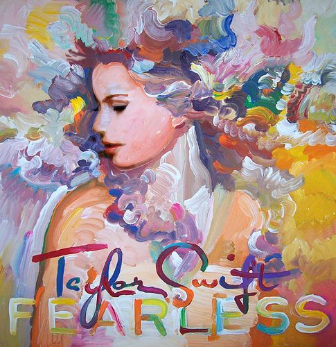 Taylor Swift Fearless album cover pop art painting by Howie Green