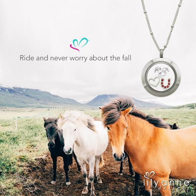 Ride and never worry about the fall.   Thumbs up if you love horses!    #LilyAnneDesigns #PersonalisedLockets #CapturingMoments #FreeToBeMe