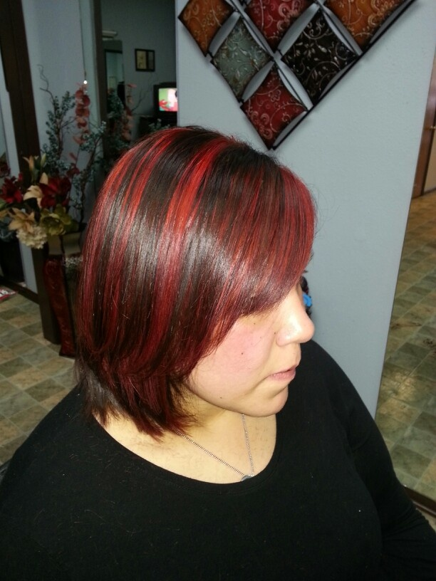 17 Best Ideas About Bright Red Highlights On Pinterest