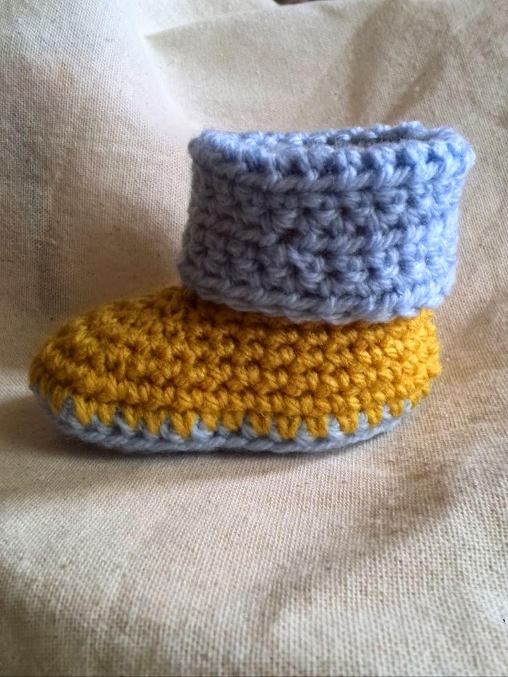 Crochet and Me かぎ針編みの編み図と編み方: かぎ針編みのベビーブーツの編み方