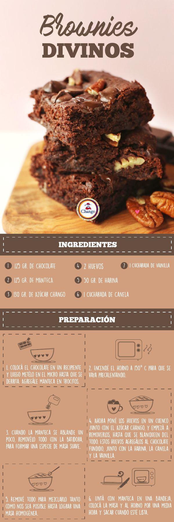 Traemos para vos esta fácil y rápida receta de Brownies Divinos para que los disfrutés este domingo.