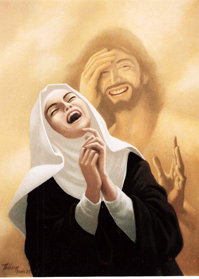 Sainte Thérèse de Lisieux et le Christ (1987 )  Claude Theberge