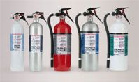 Kidde Residential Series Fire Extinguishers.  List of the different types of fire extinguishers for different areas of the home.