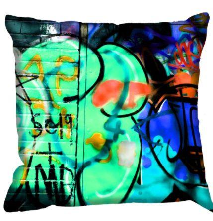 Skateboard room pillow/ graffiti wall art