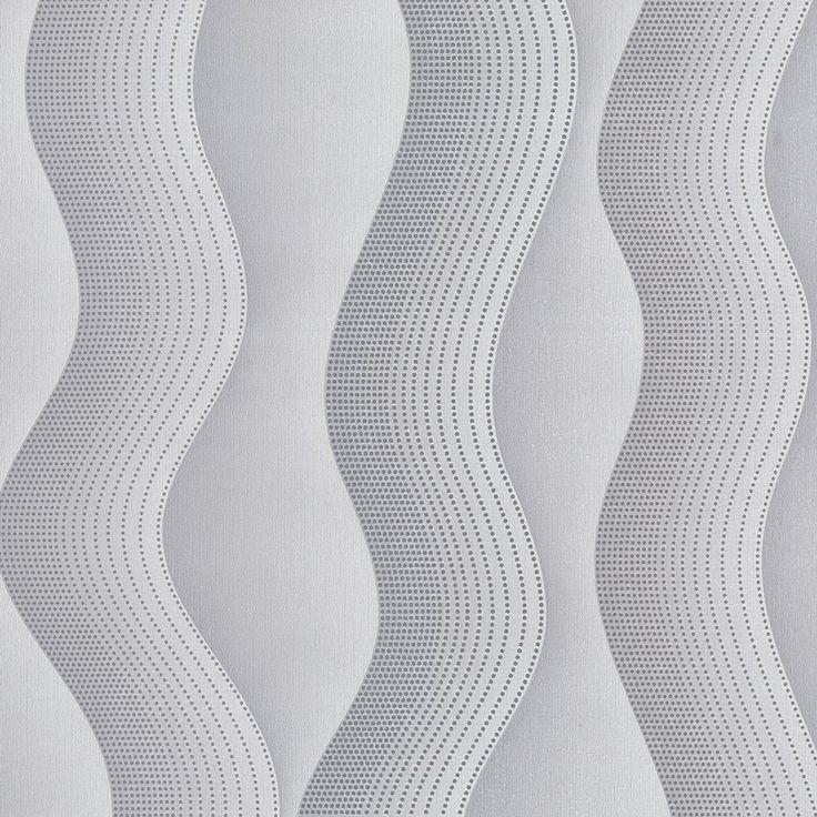 Modelo 2427 10 color blanco con gris claro papeltapiz - Color gris claro ...
