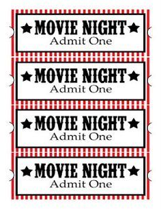 Move Night - Free Printables - Popcorn,Candy, Drink & Treat - Print as tags for a Movie Night Party! #popcornprintables