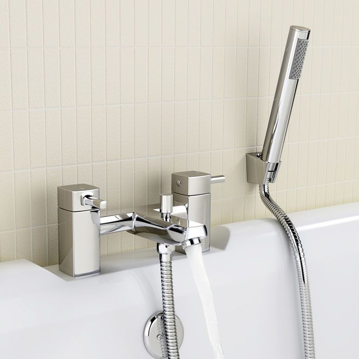 Melbourne Bath Mixer Taps With Hand Held Shower Head Shower Heads Bath Mixer Taps Bathtub Faucet