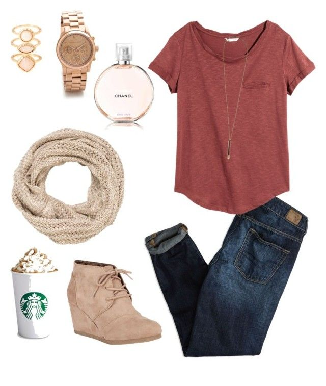 not paying in class by boyettesk on Polyvore featuring H&M, American Eagle Outfitters, City Classified, Michael Kors, Monsoon, Serefina and maurices