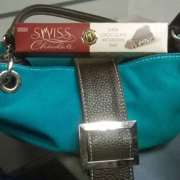 Some more chocolate I found! My loverly new handbag for my birthday. #yumi #dairyfreechocolate #handbags #turquoise #shopping #marks&spencer #dairyfreechocolate #chocoholic #friends by juicylife2930
