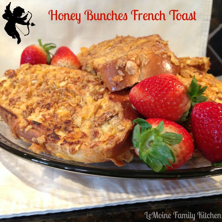 Cook your way to your loved ones heart. This Honey Bunches French Toast & Strawberry Bellinis are the perfect Valentines Breakfast!