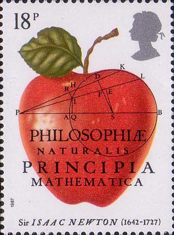300th Anniversary of The Principia Mathematica by Sir Isaac Newton 18p Stamp (1987) The Principia Mathematica