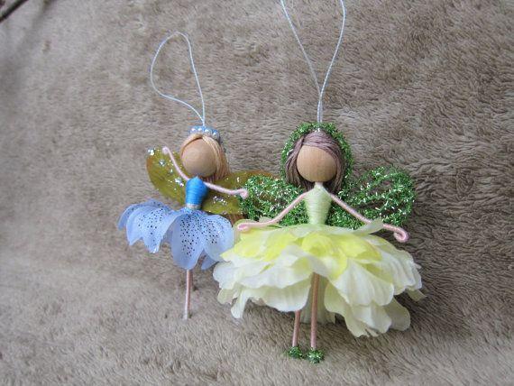 Amitié fleur fée poupées ornements de ballerine fée main