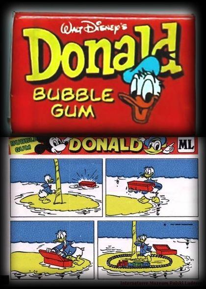 Guma Donald ( z obrazkami do kolekcji )