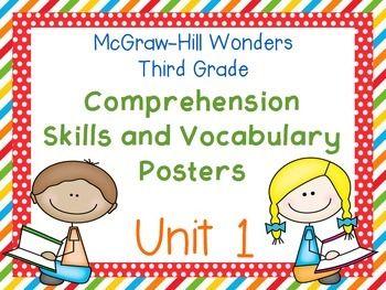 Third Grade McGraw-Hill Wonders Comprehension and Vocab. FREE