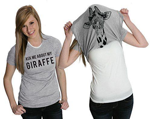 OMG!!!! THIS IS AWESOME!!!!!!! :D Women's Ask Me About My Giraffe T Shirt Funny Costume Flip Up Shirt -S Crazy Dog Tshirts http://www.amazon.com/dp/B00THNY0ZC/ref=cm_sw_r_pi_dp_sz81vb0XP4ZEB