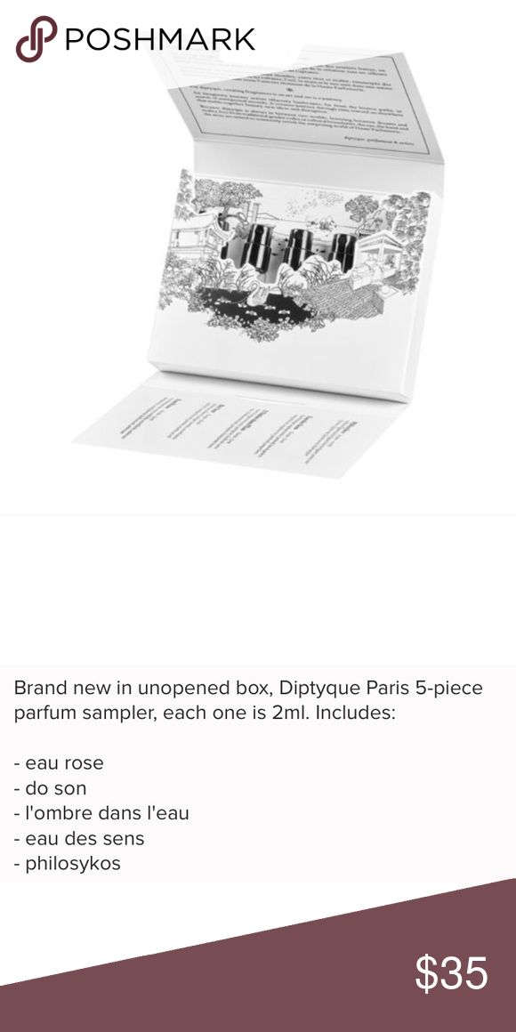 Diptyque L'art Du Parfum 5-piece sampler set NIB Brand new in box Diptyque Makeup