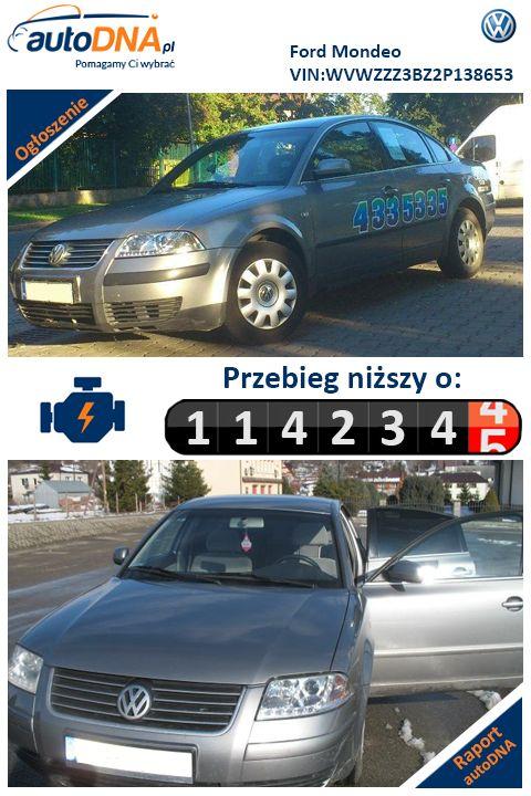 Baza autoDNA - UWAGA  #Cofniętyprzebieg  Volkswagen Passat  Raport autoDNA -  http://www.autodna.pl/vin/WVWZZZ3BZ2P138653/volkswagen-passat-sedan-2002/be7505fe17f13aadf8b4d0ba6c367e91  http://bit.ly/244QoF9